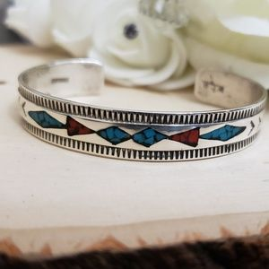 Jewelry - 925 Sterling Silver Navajo WCB Begay Bracelet